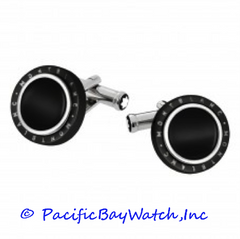 Montblanc Montblanc Meisterstuck Contemporary Turning Black PVD Cuff Links 104506
