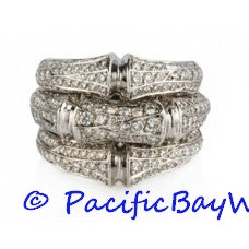Cartier White Gold Bamboo Diamond Ring