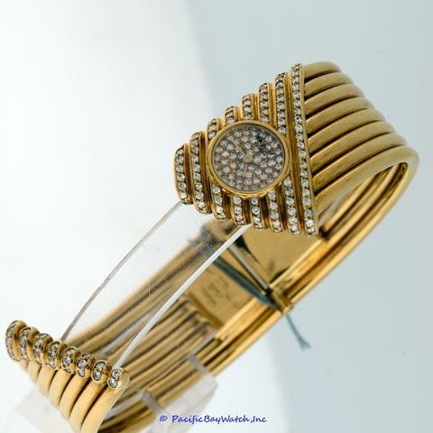 Chopard Ladies Diamond Bangle Watch Pre-Owned