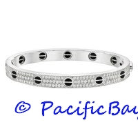 Cartier Love Bracelet 18k White Gold Diamond 21