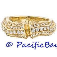 Cartier Yellow Gold Bamboo Diamond Ring
