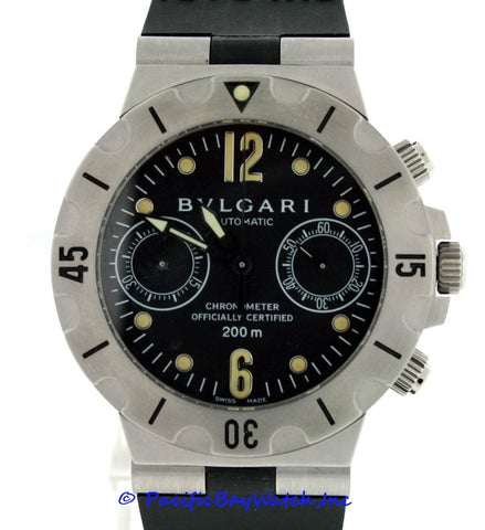 best service 5d241 00b9b Bvlgari Diagono Chronograph SD 38 S Pre-owned | Pacific Bay ...