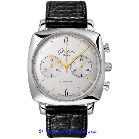 Glashutte Original 20th Century Vintage Senator Sixties Square Chronograph 39-34-03-32-04