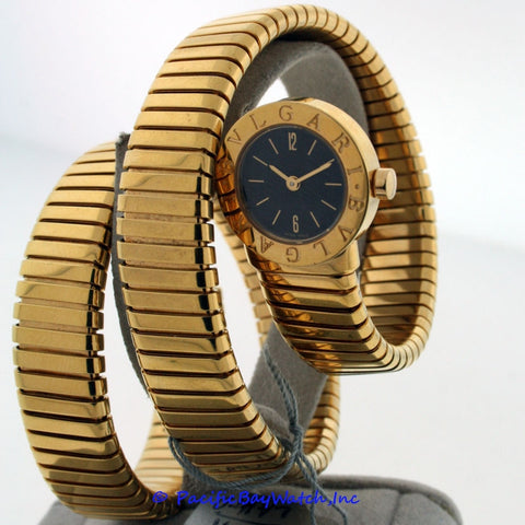Bvlgari Tubogas 18k Yellow Gold Ladies Pre-owned