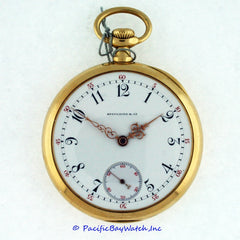 Patek Philippe & Co. Gold Pocket Watch For Spaulding & Co. Chicago Vintage Pre-owned