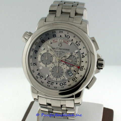 Carl F. Bucherer Patravi TravelTec GMT 00.10620.08.63.01 Pre-owned