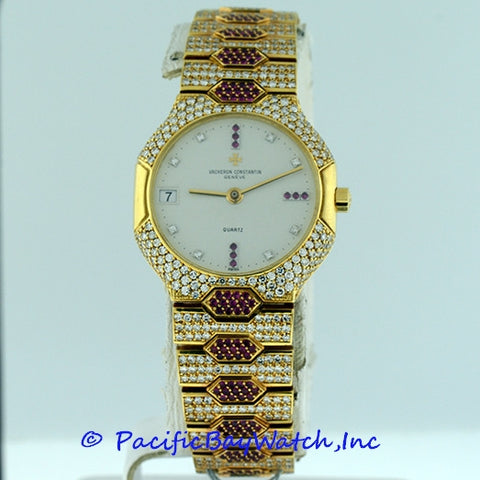 Vacheron Constantin Classique All Diamond and Ruby Pre-owned