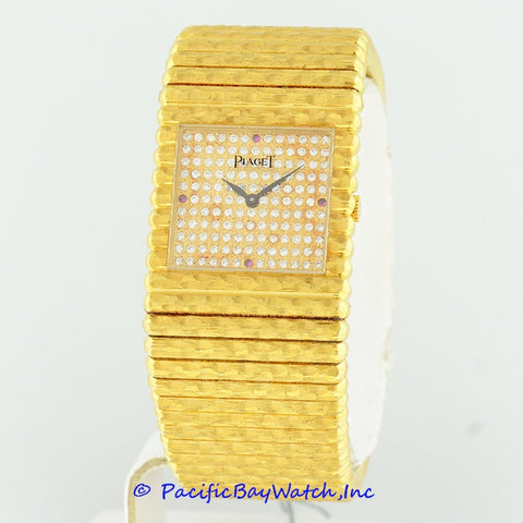 Piaget Ladies Yellow Gold Diamond Watch Pre-Owned