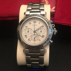 Cartier Pasha Chronograph Men's W31018H3 Pre-Owned