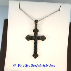 18kt White Gold Black Diamond 1.25ct. tw. Cross