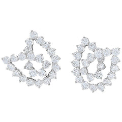 Tiffany & Co. Platinum Diamond 5.50 ct Knot Earrings