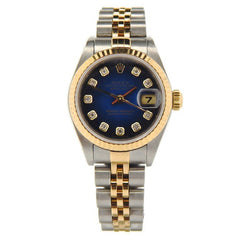 Rolex DateJust Ladies Diamond Two Tone Watch 79173 Pre-owned