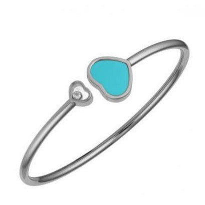 Chopard Happy Hearts White Gold & Turquoise Bangle 857482-1402