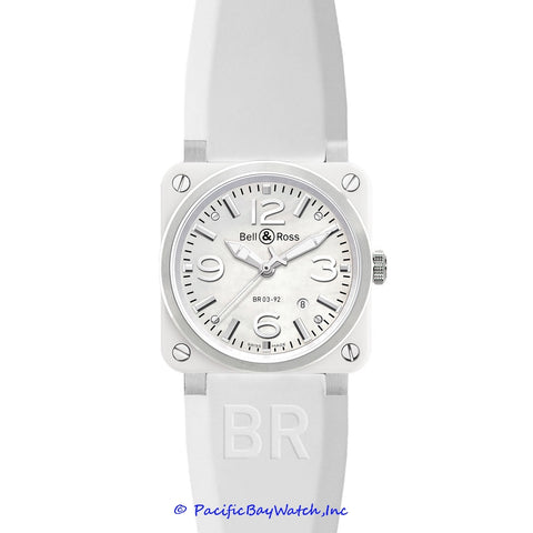 Bell & Ross Men's BR 03-92 White Ceramic Rubber
