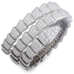 "Bulgari Pavé Diamond ""Serpenti"" Bracelet BR855118M"