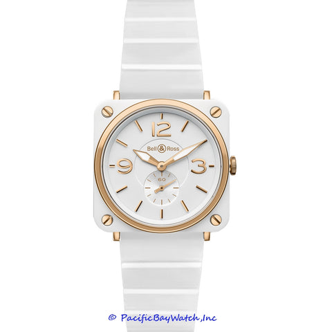 Bell & Ross Midsize BR S Pink Gold and White Ceramic