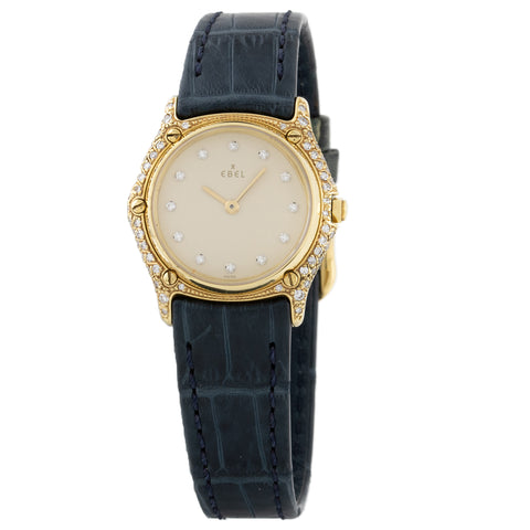 Ebel Sport Classic Ladies Gold Diamond Watch Pre-owned