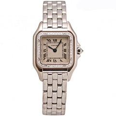 Cartier Panther Ladies 18k White Gold with Diamonds