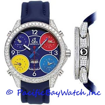 Jacob & Co. JC6-A Men's 5 Time Zone All Diamonds