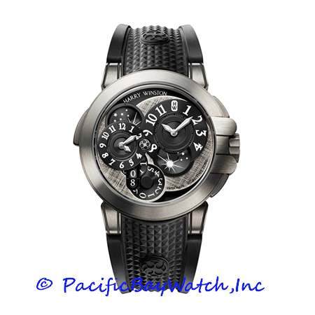 Harry Winston Ocean Dual Time Monochrome OCEATZ44ZZ008