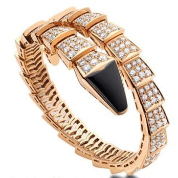 "Bulgari Pavé Diamond ""Serpenti"" Bracelet BR855196"