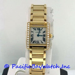 Cartier Tank Francaise Ladies 18k Yellow Gold Watch Pre-Owned