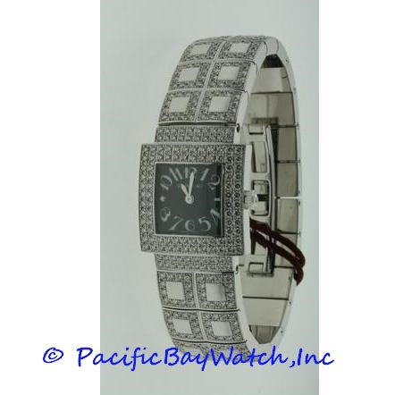 DeLaneau Bali Ladies White Gold Diamond Watch