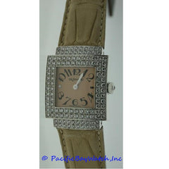 DeLaneau Bali Ladies White Gold Diamond Case Watch