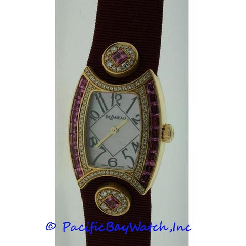 DeLaneau First Lady Diamond and Sapphires Watch