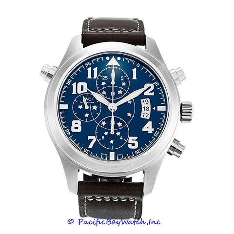 IWC Spitfire Midnight Blue Double Chronograph IW371807