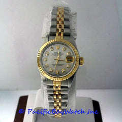 Rolex DateJust Ladies Mother Of Pearl Diamond Watch