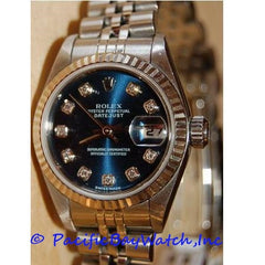 Rolex DateJust Ladies 79174 Pre-Owned Blue Diamond Dial