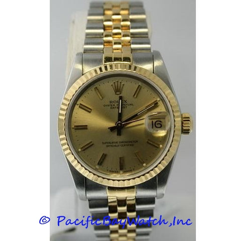 Rolex DateJust Mid-Size Two Tone Pre-Owned Watch.