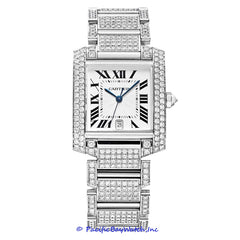 Cartier Tank Francaise All Diamond Pre-Owned Watch