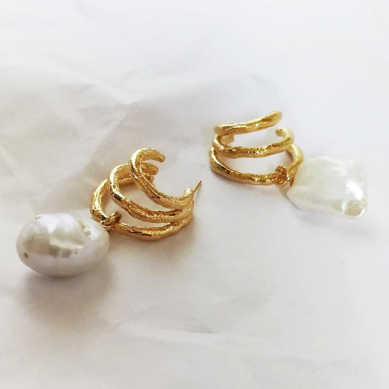 Dardanelles with Fresh Water Baroque Pearls