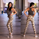 Tempted Clothing push up Extra small -light camo High Waist Camo Push Up Pants- Light sand camo