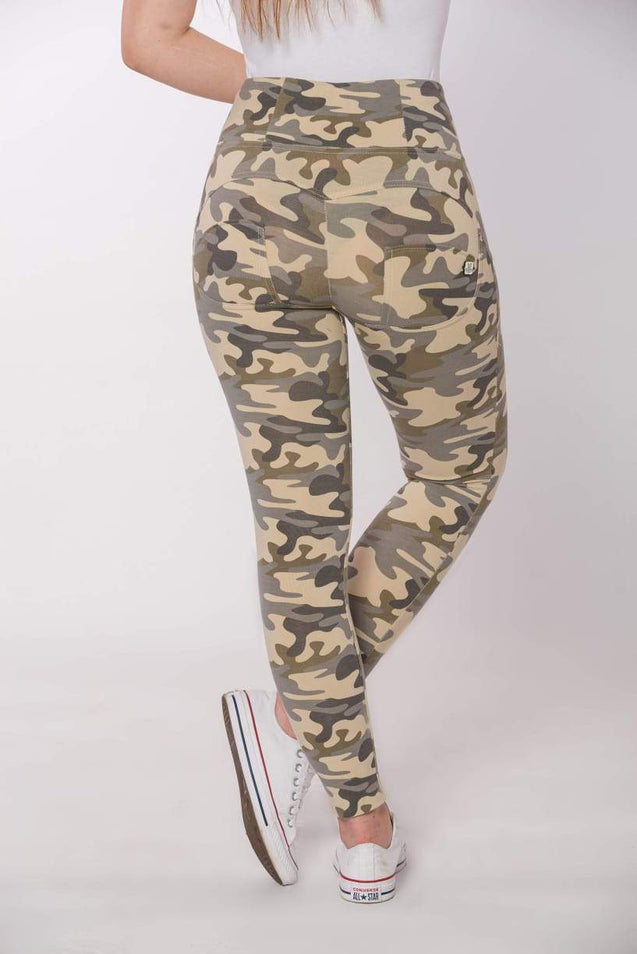 Tempted Clothing push up High Waist Camo Push Up Pants- Light sand camo