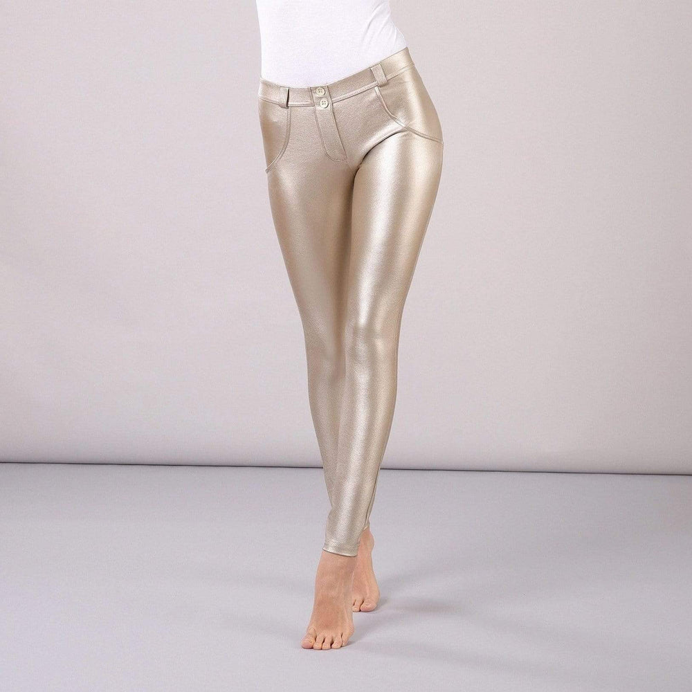 Tempted Clothing push up XS / Gold Shiny Leather Push Up Pants-PRE ORDER ITEM