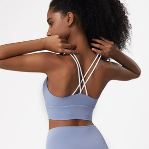 Tempted Clothing Sport Bra Mae Cross Strap Cropped Sports Bra