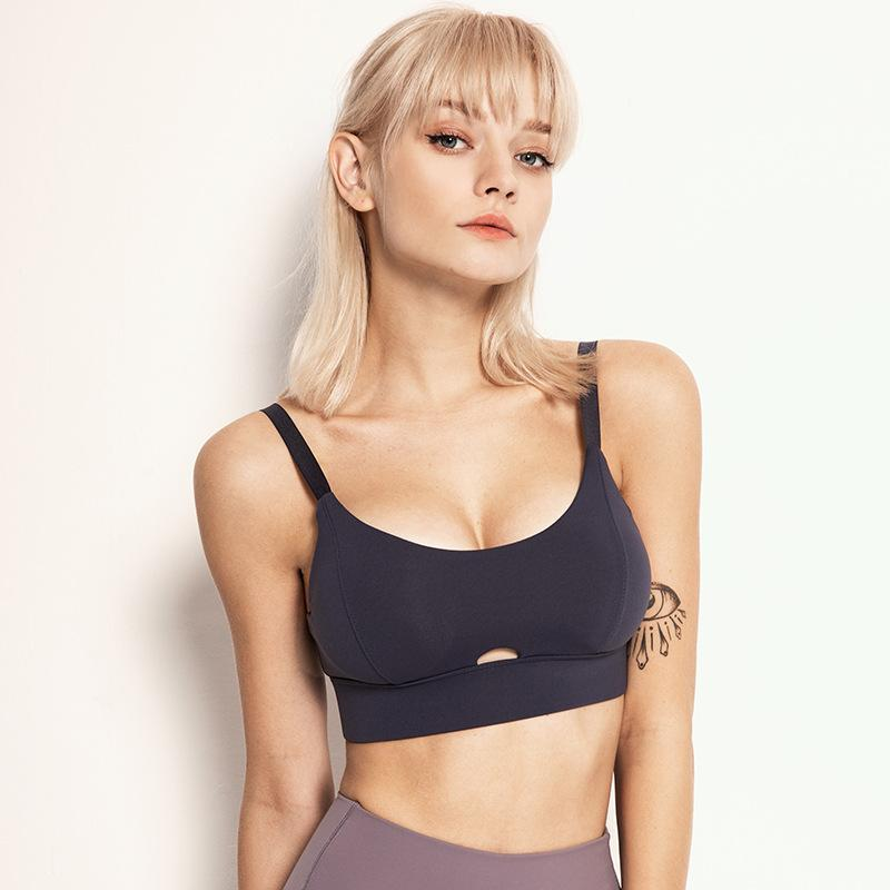 Tempted Clothing Sport Bra & Tank Tops Linear High Support Back Close Sports Bra