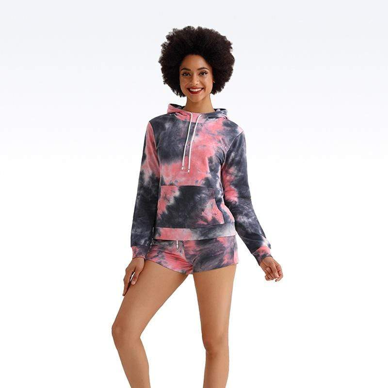 Tempted Clothing Tana Tie Die crop top and shorts set