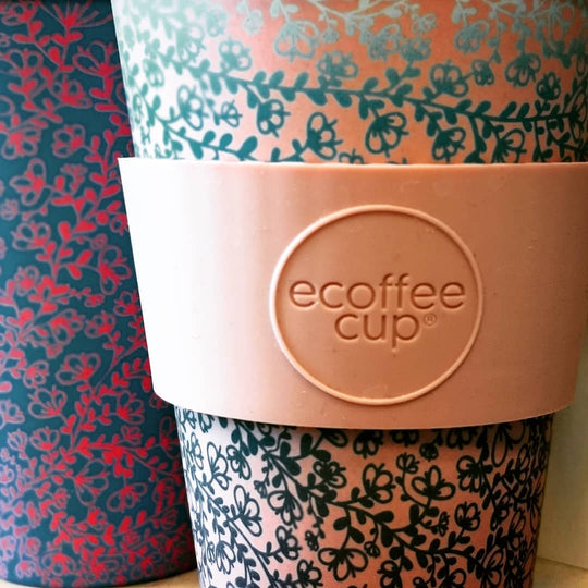 Eco friendly coffee cups in bamboo