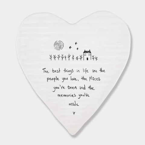 BEST THINGS ARE PEOPLE YOU LOVE CERAMIC HEART COASTER