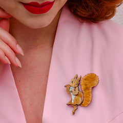 Squirrel Nutkin brooch