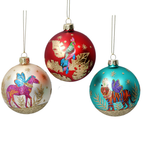 Fantasy Animals glass bauble - Daisy Park