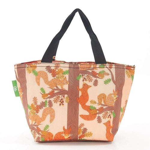 Eco Chic Khaki Squirrel Foldable Lunch Bag - Daisy Park