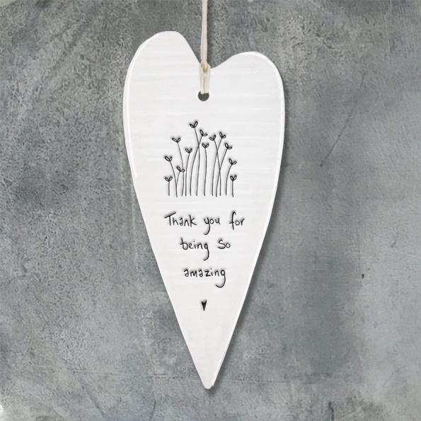 Wobbly Long Heart - 'Thank you for being so amazing'