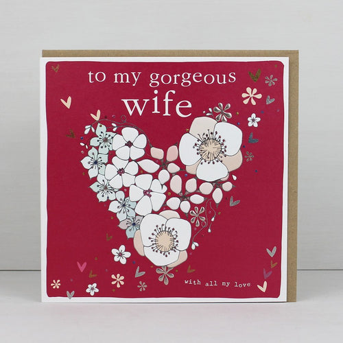 To my gorgeous wife card - Daisy Park