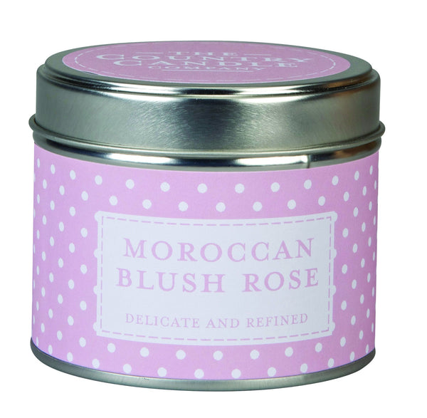 The Country Candle Moroccan Blush rose candle tin