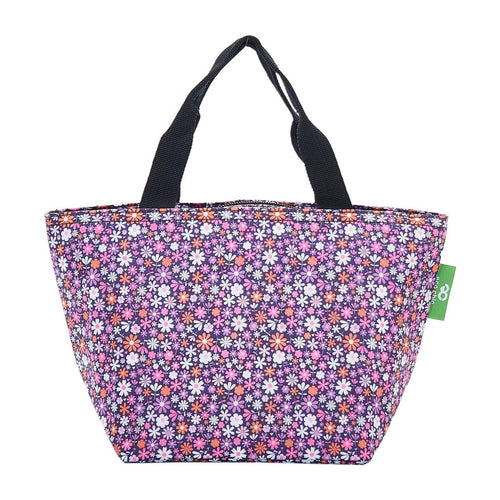 Eco Chic Purple Ditsy Foldable Lunch Bag - Daisy Park